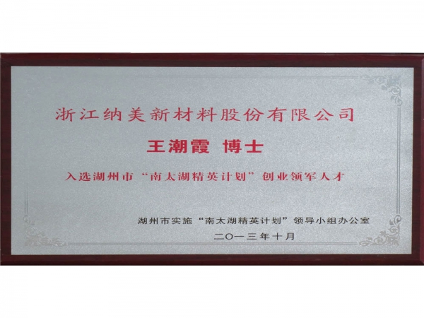 南太湖精英计划王潮霞博士